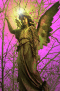 Seraphim Angel Mixed Media Posters - Angel of Bless No. 02 Poster by Ramon Labusch