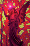 Seraphim Angel Mixed Media Framed Prints - Angel of Blesss No. 05 Framed Print by Ramon Labusch