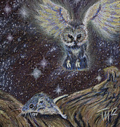 Owl Pastels - Angel of Death by Thomas Maynard