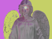 Hierarchy Mixed Media Posters - Angel of Devotion No. 07 Poster by Ramon Labusch