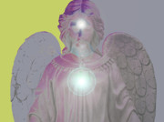 Seraphim Angel Mixed Media Prints - Angel of Devotion No. 11 Print by Ramon Labusch