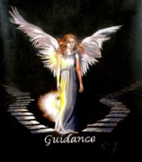 Angelic Drawings - Angel of Guidance by Concept by Rev Kathleen L Dixon Artist Greg Crumbly