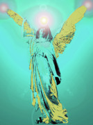 Seraphim Angel Mixed Media Posters - Angel of Harmony No. 05 Poster by Ramon Labusch