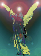 Seraphim Angel Mixed Media Posters - Angel of Harmony No. 06 Poster by Ramon Labusch