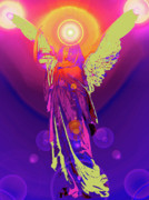 Seraphim Angel Mixed Media Posters - Angel of Harmony No. 10 Poster by Ramon Labusch