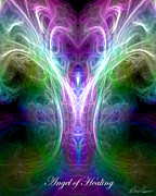 Healing Digital Art Posters - Angel of Healing Poster by Diana Haronis