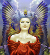Sacred Digital Art Originals - Angel Of Joy by Consuelo Venturi