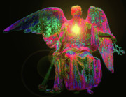 Seraphim Angel Mixed Media - Angel of Justice No. 03 by Ramon Labusch