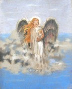 Angelic Drawings - Angel of Love by Concept by Rev Kathleen L Dixon Artist Greg Crumbly