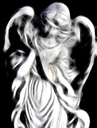 Religious Digital Art Originals - Angel Of Mercy by Holly Ethan
