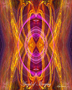 Merging Digital Art Prints - Angel of Merging Print by Diana Haronis