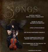 Angel Of Music Print by Serena Ballard