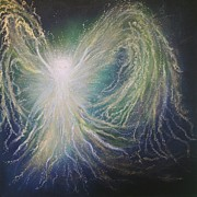Alternative Paintings - Angel of Peace by Energy Print by Naomi Walker