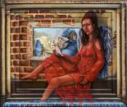 Anti-war Paintings - Angel of Peace by Karen Musick