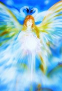 Healing Digital Art Posters - Angel of Serenity Poster by Alma Yamazaki
