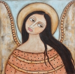 Christian Art Pastels - Angel of Silence by Rain Ririn
