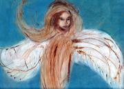 Divine Spark Prints - Angel of the Day Star Print by Michaela Akers