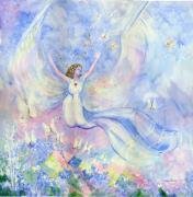 Angel Mixed Media - Angel of the Meadow by Rosemary Babikan