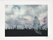 Headstones Mixed Media Prints - Angel of the Mourning Print by Lori  Secouler-Beaudry