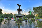 Bethesda Fountain Prints - Angel of the Waters Fountain  Bethesda II Print by Lee Dos Santos