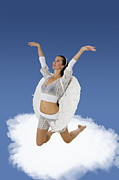 Cherub Art - Angel on a cloud by Ilan Rosen
