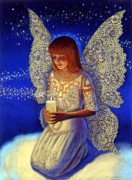 Fairies Art - Angel Prayer by Sue Halstenberg