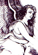 Angel Drawings - Angel by Rebecca Boyd