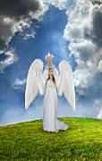 Release Posters - Angel Releasing a Dove Poster by Jill Battaglia