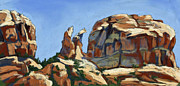Sedona Pastels Prints - Angel Rock Print by Patricia Rose Ford