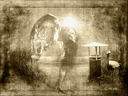 Ym_art Prints - Angel Spirit Sepia Print by Yvon -aka- Yanieck  Mariani
