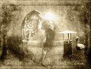 Angel Spirit Sepia Print by Yvon -aka- Yanieck  Mariani