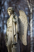 Winged Figure Posters - Angel Statue Poster by Artur Bogacki