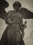 Bethesda Fountain Prints - Angel Statue Bethesda Fountain Central Park Print by Robert Ullmann