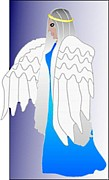 Wing Prints - Angel Wings Print by Amanda Partenheimer
