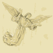 Seraphim Prints - Angel with arms spread Print by Aloysius Patrimonio