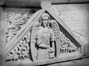 Casket Photos - Angel With Scroll Carving by Teresa Mucha