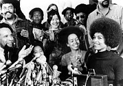 Activist Photo Prints - Angela Davis Attended Her First News Print by Everett