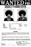 Fbi Prints - Angela Davis Fbi Wanted Ad, August 8th Print by Everett