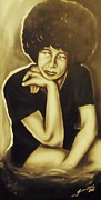 Civil Rights Paintings - Angela Davis by Terrence ONeal