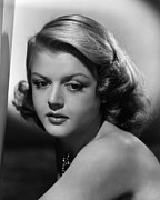 Bare Shoulder Metal Prints - Angela Lansbury, 1948 Metal Print by Everett