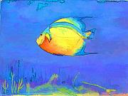 Sealife Mixed Media - Angelfish by Arline Wagner
