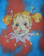 Circus. Paintings - Angelic Clown by Angelic by  Jones