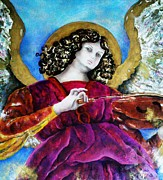 Lady In Lake Painting Posters - Angelic Poster by Unique Consignment