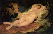Rubens Painting Prints - Angelica and the Hermit Print by Sir Peter Paul Rubens