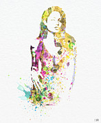 Superstar Prints - Angelina Jolie 2 Print by Irina  March