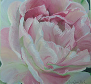 Close Up Floral Pastels Posters - Angelique Poster by Marie-Claire Dole