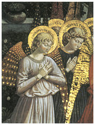 Angel Art Paintings - Angels by Benozzo Gozzoli