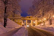 Night Angel Photos - Angels Bridge in Winter by Jaak Nilson