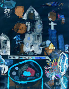 Coin Mixed Media Prints - Angels in the City Print by Duwayne Washington