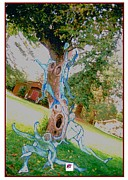 Barns Mixed Media Acrylic Prints - Angels in Trees in WA State Acrylic Print by Carol Rashawnna Williams